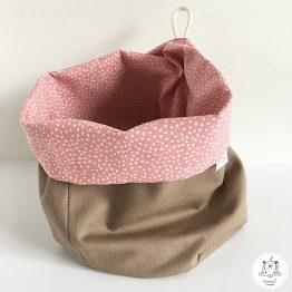 bourse XS beige pois rose