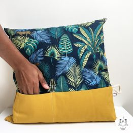 coussin jungle poche