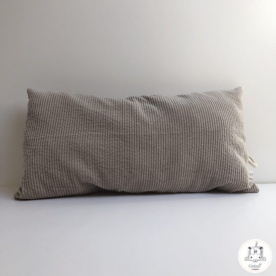 coussin rectangle beige